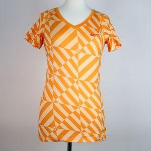 NIKE PRO Geometric Fitted Shirt MEDIUM
